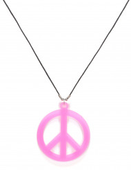 Collier hippie rose adulte