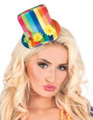 Mini chapeau multicolore femme