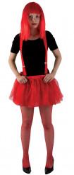 Jupon en tulle doublé rouge Halloween