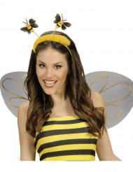 Serre tête abeille avec fourrure adulte