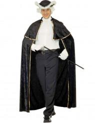 Cape séducteur vénitien avec jabot noir adulte