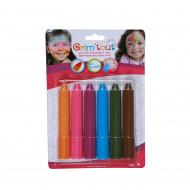 6 Crayons maquillage Grim'Tout couleurs arc en ciel