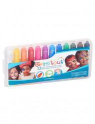Boîte de 12 crayons maquillage multicolore Grim'tout