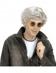 Perruque courte grise homme