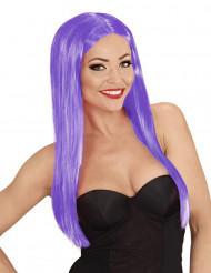 Perruque longue glamour violette femme