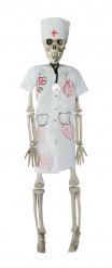 Décoration à suspendre squelette infirmière 40 cm Halloween