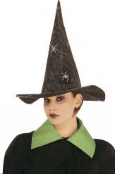 Chapeau sorcière et araignées phosphorescentes Halloween