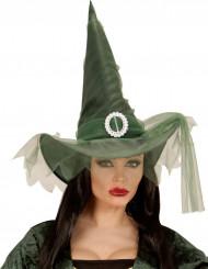 Chapeau sorcière vert femme Halloween