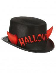 Chapeau haut de forme avec cornes adulte Halloween