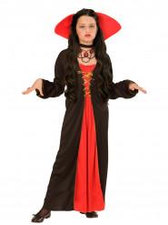 Déguisement comtesse avec grand col fille Halloween