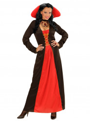 Déguisement comtesse avec grand col femme Halloween