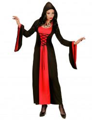 Déguisement comtesse rouge et noire à capuche femme Halloween