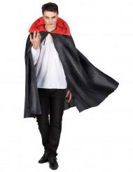 Cape noire col rouge Halloween