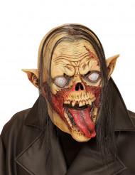Masque vampire zombie avec cheveux adulte Halloween