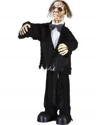 Décoration marié zombie animée, lumineuse et sonore 75 cm Halloween