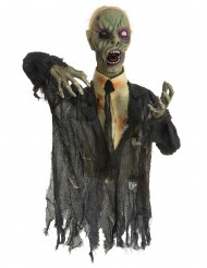 Décoration zombie animée, lumineuse et sonore 140 cm Halloween