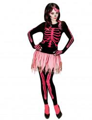 Déguisement squelette rose femme Halloween