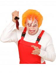 Masque poupée tueuse avec cheveux adulte Halloween