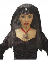 Voile veuve noire avec airaignées femme Halloween