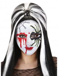Masque araignée sanglante coloré adulte Halloween