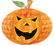Décoration citrouille papier 30 cm Halloween
