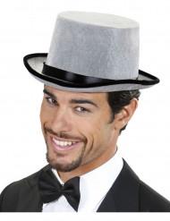 Chapeau haut de forme gris adulte