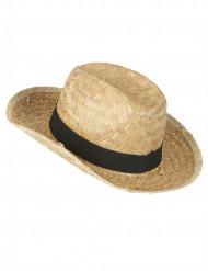 Chapeau cowboy en paille enfant