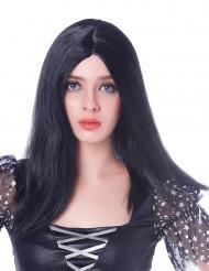 Perruque longue noire femme - 45 cm