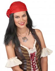 Perruque pirate avec bandana homme