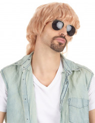 Perruque mulet blonde homme