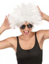 Perruque rockstar blanche femme