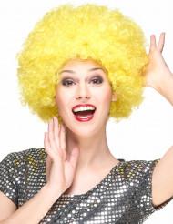Perruque clown afro jaune adulte - 160g