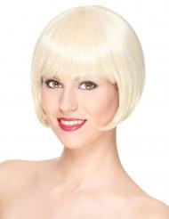 Perruque luxe blonde courte femme