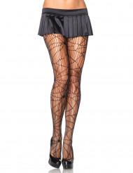 Collants spandex toiles d'araignées femme Halloween