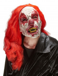 Masque latex clown terrifiant adulte Halloween