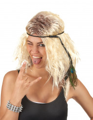 Perruque popstar blonde femme