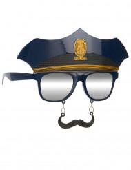 Lunettes avec moustaches police adulte