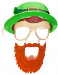 Lunettes avec barbe Saint Patrick adulte