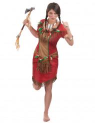 Déguisement indienne rouge femme