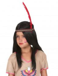 Perruque longue indienne enfant
