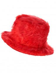 Chapeau peluche rouge adulte
