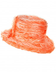 Chapeau peluche orange adulte