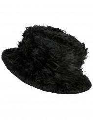Chapeau peluche noir adulte