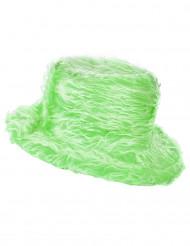Chapeau peluche vert adulte