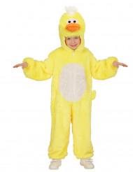 Déguisement petit canard jaune enfant
