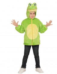 Veste à capuche grenouille enfant