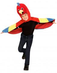 Poncho à capuche perroquet enfant