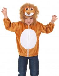 Veste à capuche lion enfant