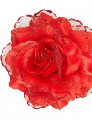 Rose rouge pour cheveux femme