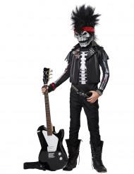 Déguisement squelette rockeur pour enfant